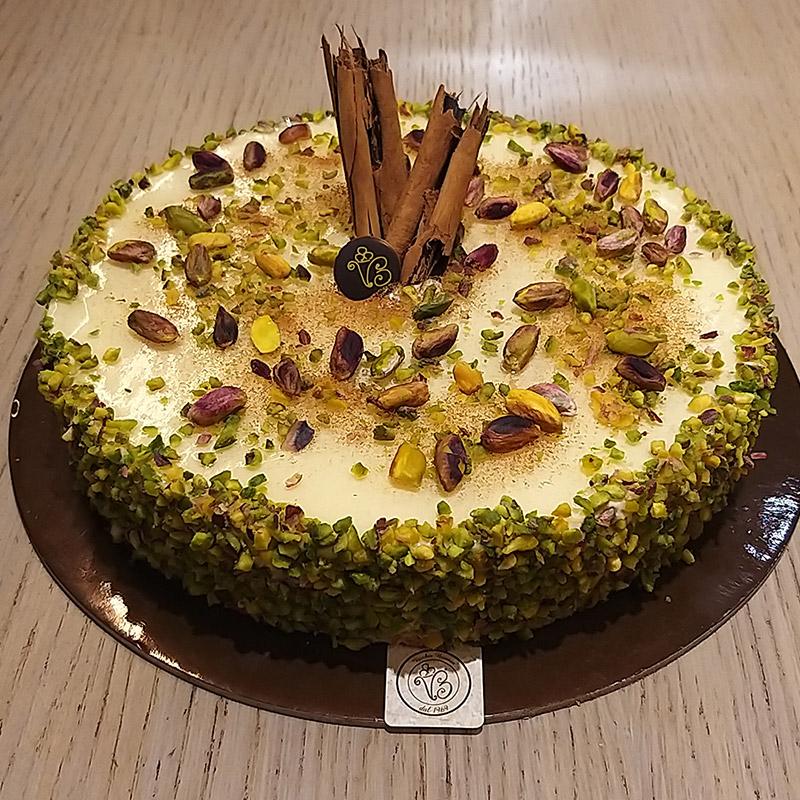 torta pistacchio vaniglia cannella