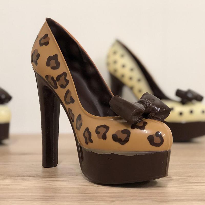 scarpe cioccolato leopardata