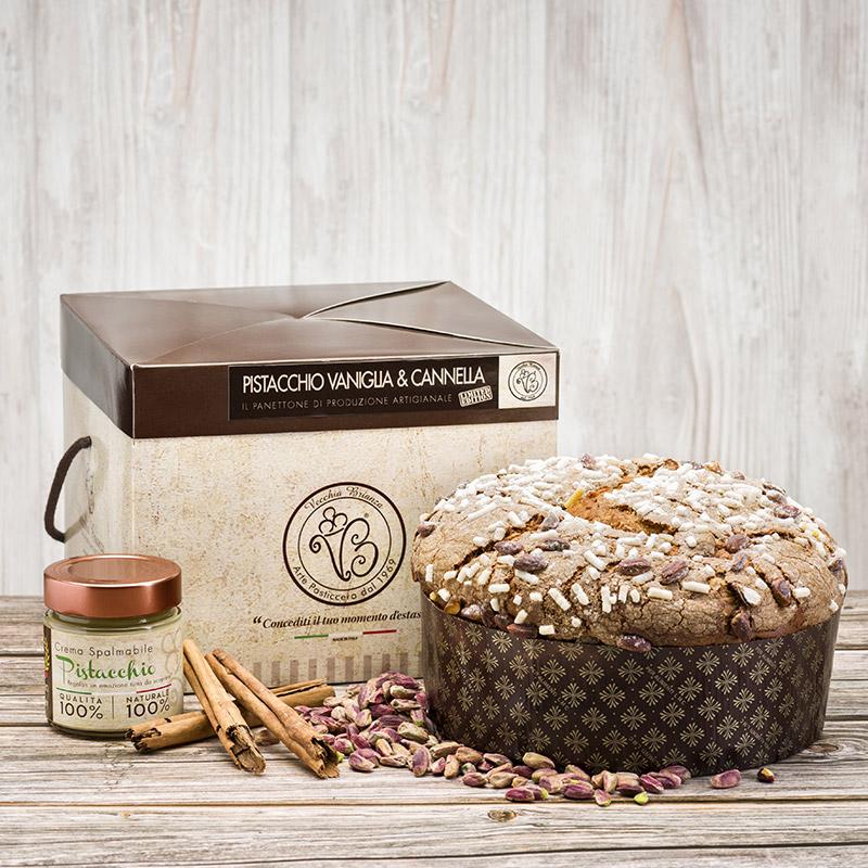 panettone artigianale pistacchio vaniglia cannella