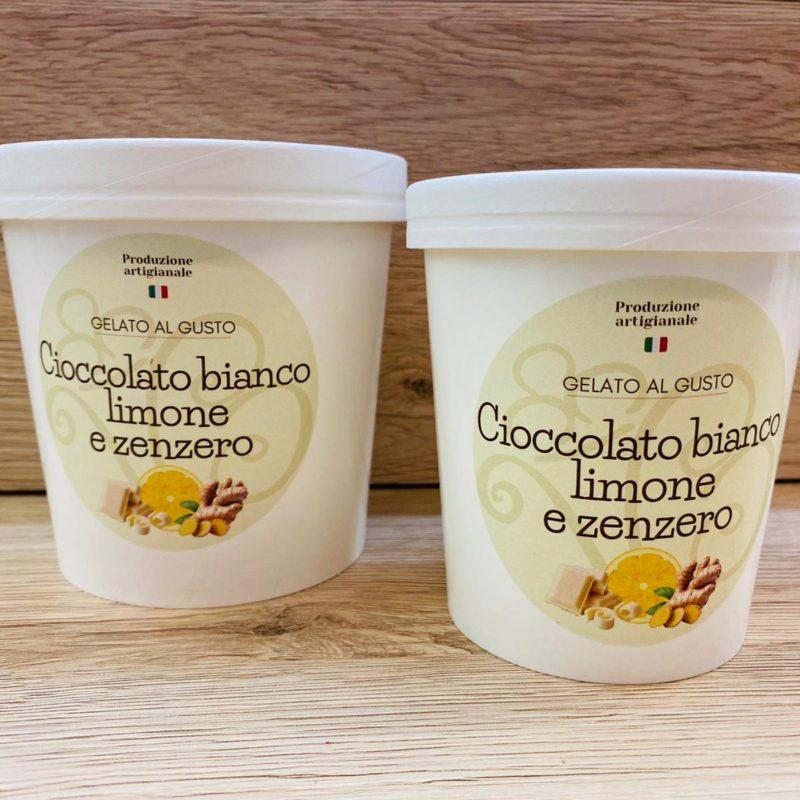 gelato cioccolato bianco limone e zenzero